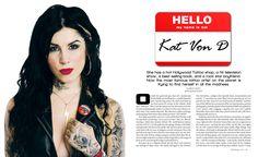 Kat Von D Magazine Spread