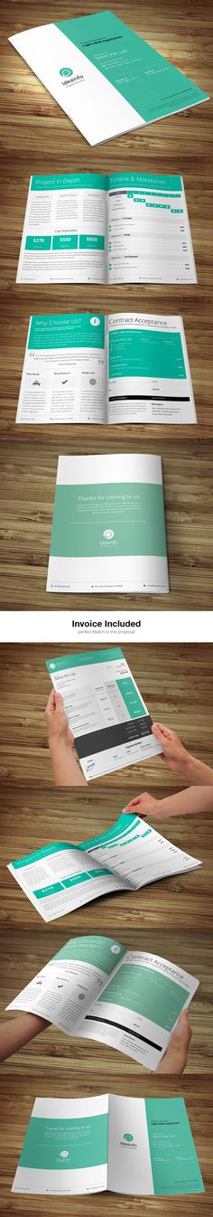 Short  & Quick Business Proposal by Bouncy Studio, via Behance