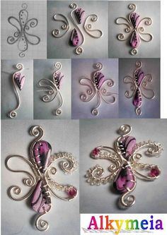 polymer clay and wire.  cool idea
