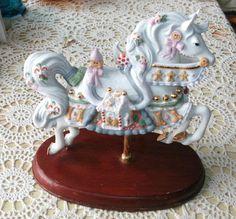 2002 Lenox Christmas Gingerbread Carousel Horse
