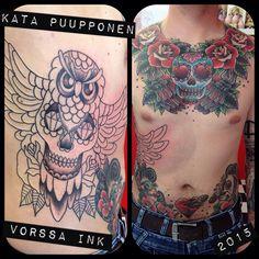 https://www.facebook.com/VorssaInk/, http://tattoosbykata.blogspot.com, #tattoo #tatuointi #katapuupponen #vorssaink #forssa #finland #traditionaltattoo #suomi #oldschool #pinup #owl