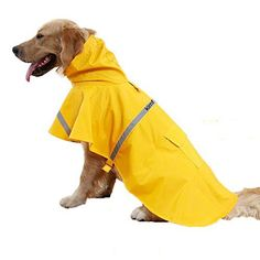 Kimfoxes Dog Raincoats, Fashion Dog Rain Poncho, Reflective Strips and PU Waterproof Raincoat for Dogs The reflective strips waterproof raincoat is of light weight clothing, good waterproof properties, comfortable and generous beauty, it can protect your pet from getting wet in rainy day, high... more details available at https://perfect-gifts.bestselleroutlets.com/gifts-for-pets/for-cats/product-review-for-kimfoxes-dog-raincoats-fashion-dog-rain-poncho-reflective-strips-and-