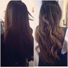 #balayageombre Brown