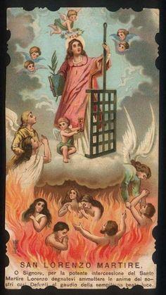 Ó Senhor, através da poderosa intercessão do Santo Mártir Lawrence, se dignam a admitir as almas de nossos entes queridos falecidos para a alegria da bem-aventurada luz eterna.