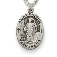 St. Patrick, Patron of the Irish, Sterling Silver Medal  http://www.truefaithjewelry.com/sm8846sh.html