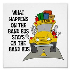 rule of marching band: what happens on the band bus stays on the band bus. Band Mom, Band Nerd, Love Band, Marching Band Quotes, Marching Band Problems, Flute Problems, Color Guard Memes, Band Jokes, Band Puns
