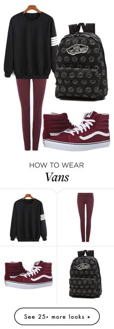 """Untitled #476"" by dnoshka on Polyvore featuring 7 For All Mankind and Vans"
