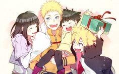 black_hair blonde_hair cape carrying family gift husband_and_wife hyuuga_hinata multiple_boys multiple_girls naruto nipye spiked_hair uzumaki_boruto uzumaki_himawari uzumaki_naruto whisker_markings whiskers Naruhina, Naruto Uzumaki, Anime Naruto, Himawari Boruto, Clan Uzumaki, Uzumaki Family, Naruto Fan Art, Naruto Cute, Hinata Hyuga