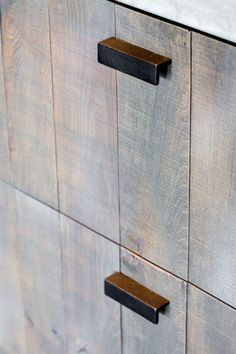 Dauby - Pure: Furniture Knob PML-96 Dark Iron (VO) L150mm, also available in White Bronze (WB) ** www.dauby.be **