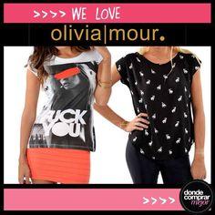 Nos preparamos para el finde largo con las remeras divinas de OLIVIA   MOUR. #love #moda
