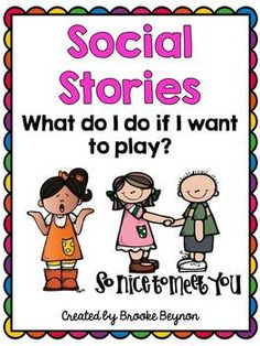 This social story focuses on helping students figure out what to do when they want to ask someone to play. Steps include smiling, asking to play an. Preschool Social Skills, Social Emotional Activities, Social Emotional Development, Feelings Activities, Teaching Resources, Coping Skills, Life Skills, Social Stories Autism, School Social Work