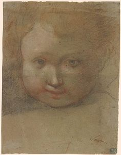Francesco Vanni | Head of a Child. Verso: Head of Child Looking up to the Right | Drawings Online | The Morgan Library & Museum