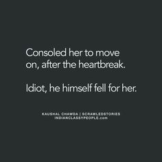 And now he's going to be the one needing consolation... From someone else
