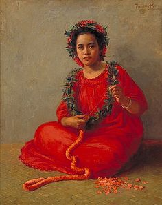 The Lei Maker, 1901  Theodore Wores, US