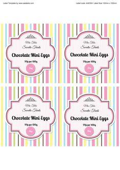 Mini Eggs Sweet Jar Labels Template Image Label Jars Templates