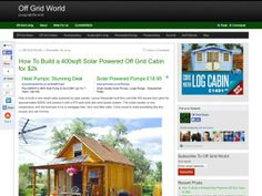 Off Grid World -How To Build a 400sqft Solar Powered Off Grid Cabin for $2k