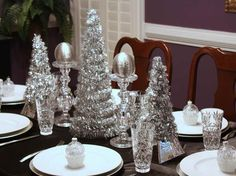 fantastic tips on easter table decorations to get special dinner silver christmas decorations christmas tablescapes - Silver Christmas Table Decorations