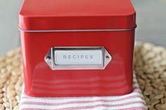 New Red Recipe Box