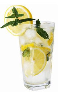 """Sassy Water"" ~ 2 liters water (about 8 ½ cups) 1 teaspoon freshly grated ginger 1 medium cucumber, peeled and thinly sliced 1 medium lemon, thinly sliced 12 small spearmint leaves. Combine all ingredients in a large pitcher and let flavors blend overnight."