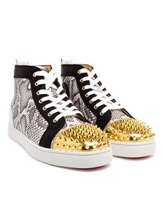 CHRISTIAN LOUBOUTIN | Python and Gold Louis High � Shoes