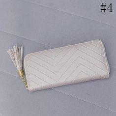 Women Day Clutches Long Wallet Lady Leather Wallet Clutch Checkbook Purse Tassel Purse Women Long Leather Wallet