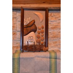 Wood painting Wood carving Home Decor Universal Gift Wood art... (1 800 UAH) ❤ liked on Polyvore featuring home, home decor and wall art
