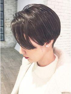 アルバム シブヤ(ALBUM SHIBUYA)ダークアッシュモーブカラー×マッシュショート_ba17093 Girl Short Hair, Short Hair Cuts, Short Hair Styles, Hair Inspo, Hair Inspiration, Bowl Haircuts, Eye Makeup, Hair Makeup, Cabello Hair