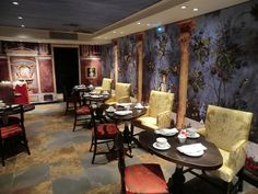 The breakfast room at Hotel le Bellechasse in Paris, designed by Christian Lacroix