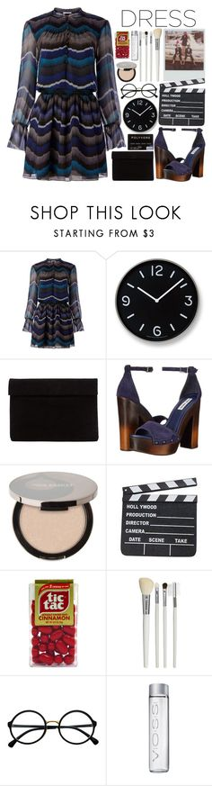 """""""Party On: Long Sleeve Dresses"""" by aguniaaa ❤ liked on Polyvore featuring Diane Von Furstenberg, Lemnos, Steve Madden, Juice Beauty, Cath Kidston, Retrò and longsleeve"""