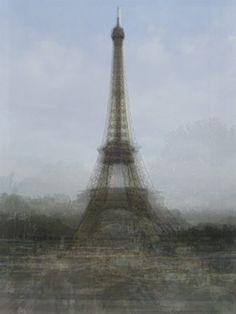 hundreds of tourist snapshots layered