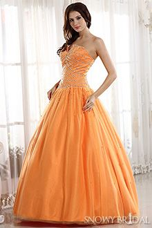 Camo Hunter Orange Wedding Dresses - W0049