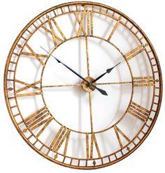 Wall Clocks Uk, Gold Wall Clock, Outdoor Wall Clocks, Unique Wall Clocks, Skeleton Wall Clock, Giant Vintage, Kitchen Clocks, Clocks For Sale, Large Clock