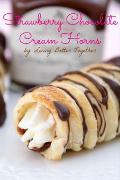 Chocolate Strawberry Cream Horns - Living Better Together
