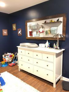 DIY Changing Table Pegboard