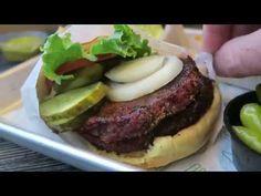 Secret double vegan burger at Shake Shack (it's not what you'd expect! Shake Shack, Vegan Burgers, Hamburger, Ethnic Recipes, Food, Vegan Patties, Hamburgers, Meals, Yemek