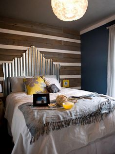 Not sure about the shape of the headboard, but the wall is awesome!