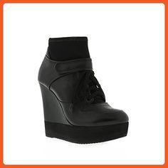 Ruthie Davis Women's Balm Fashion Sneaker, Jet Black, 37 EU/6.5-7 B US - Sneakers for women (*Amazon Partner-Link)