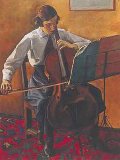 """Edwin Holgate - """"The Cellist"""", McMichael Canadian Art Collection > Group of Seven Tom Thomson, Emily Carr, Harlem Renaissance, Jackson, Montreal Museums, Group Of Seven, Art Deco, Paul Cezanne, Canadian Artists"""