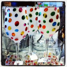 Polka Dot Stemware......just love these....colorful and fun!