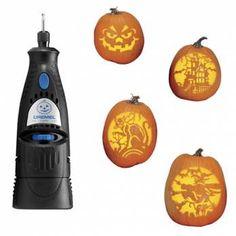 Dremel power carving tool! Great idea!!