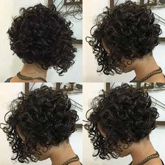 Very Popular Curly Short Hairstyles Every Lady Need to See Sehr beliebte lockige Kurzhaarfrisuren, d Bob Haircut Curly, Haircuts For Curly Hair, Curly Hair Cuts, Curly Bob Hairstyles, Curly Hair Styles, Bob Haircuts, Haircut Short, Short Permed Hair, Short Curly Bob