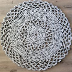 Crochet rug handmade rug crochet dolly dolly rug cotton
