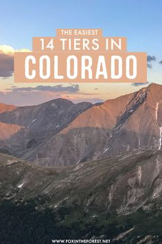 Want to do a 14 tier but worried it might be challenging? Colorado is home to some of the most amazing 14 tiers in the world, and there are some that are perfect for beginners! On this post, I share a few of the easiest 14 tiers in Colorado that you can totally rock! #Colorado 14ers In Colorado, Visit Colorado, Colorado Hiking, Colorado Mountains, Travel Advice, Travel Tips, Best Travel Deals, Where To Go, Travel Usa