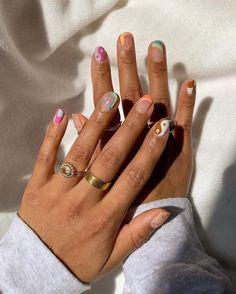 summer nails ideas 2021#nails#nail#nailart#acrylicnaildesignsforsummer#nail2021#summernail#summernailscolorsdesigns#acrylicnaildesignsforsummer Aycrlic Nails, Swag Nails, Zebra Nails, Grunge Nails, Stylish Nails, Trendy Nails, Cute Short Nails, Cute Easy Nails, Short Round Nails