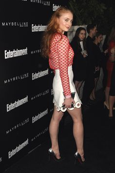 Sophie Turner arrives at Entertainment Weekly's celebration honoring the 2016 SAG Awards nominees held at Chateau Marmont on January 29, 2016 in Los Angeles, California.