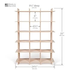 Dimensions of Wooden Shoe Shelf
