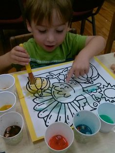Ages 2-4 Painting with m and m's