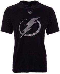 brand new 22c26 e5d16 Authentic Nhl Apparel Men Brayden Point Tampa Bay Lightning Synthetic Stack  Name and Number T-