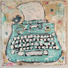 """Tricia Robinson - love her style!!!! Typewriter Love 24""""x24"""""""