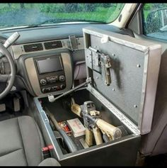 "Cool gun case inside vehicle (puts a new twist on ""after market"" mods)"